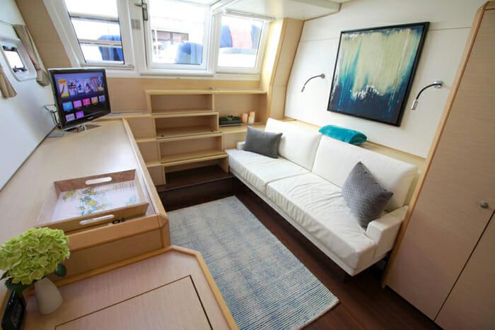 Lady Katlo master cabin lounge