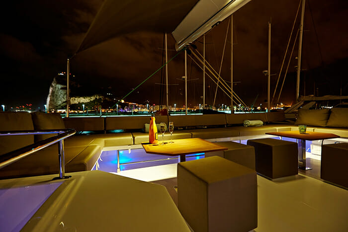 Lir sundeck at night