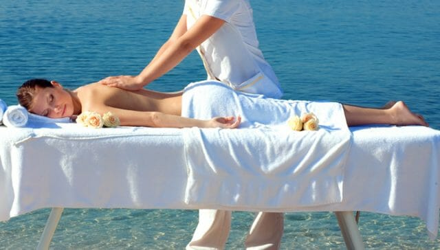 massage by the sea
