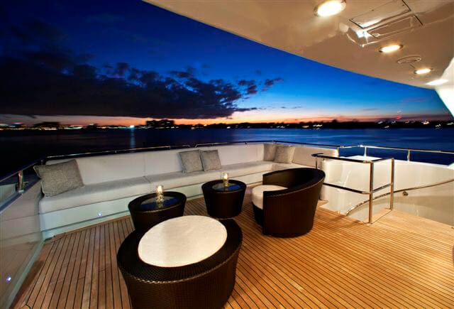 Milk and Honey aft deck seating