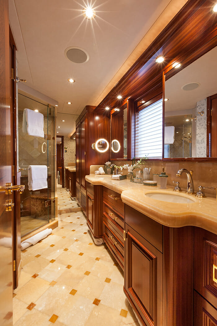 Milk Money master bathroom
