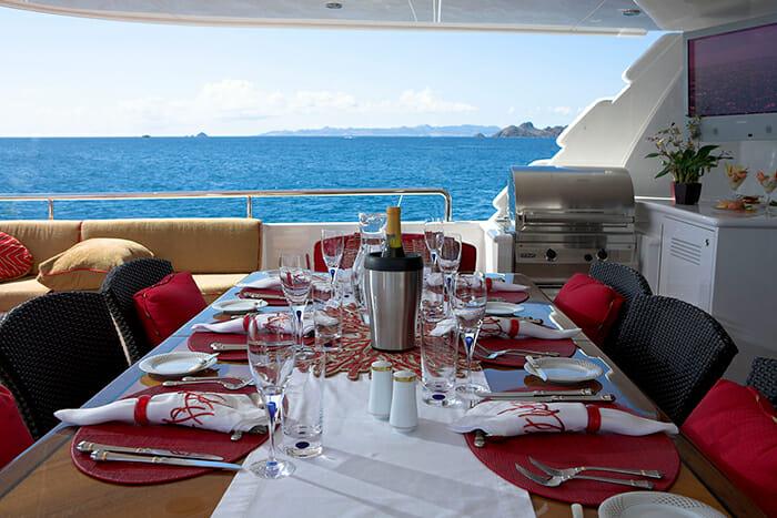Namoh bridge deck dining