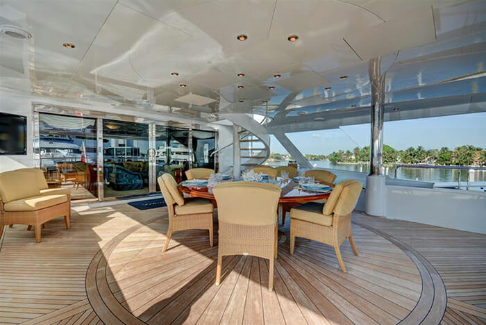 Never Enough upper aft deck