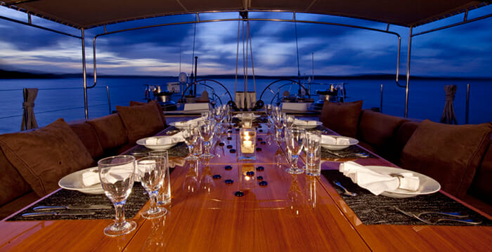 Oceans Seven 2 deck dining