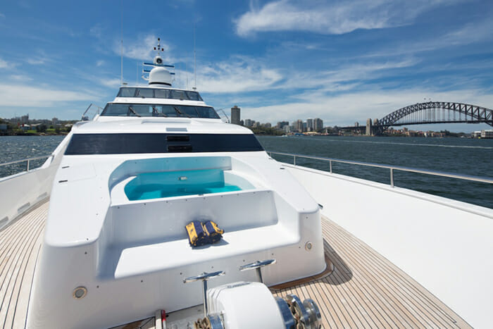 Oscar II forward deck with jacuzzi