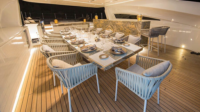 Ouranos sundeck dining