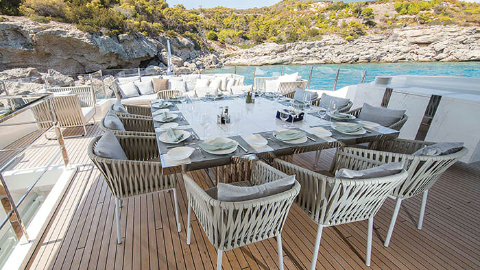 Ouranos upper deck dining