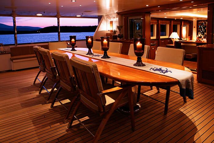 Pegasus main deck aft dining