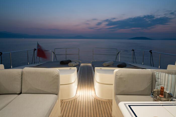 Romachris II deck lounge area