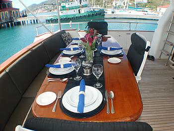 Runaway aft deck dining