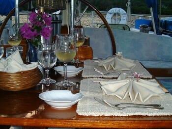 Sandcastle cockpit dining