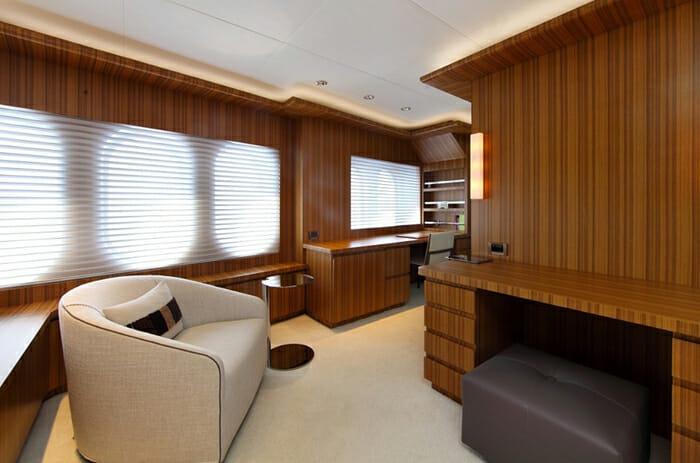 Sea Shell master cabin office