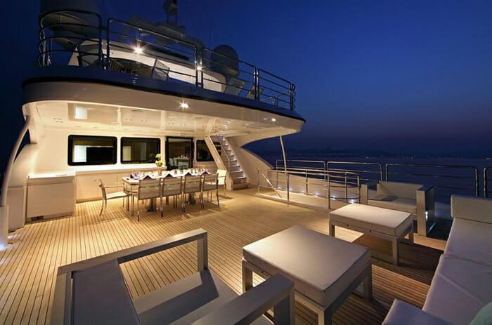Sea Shell upper deck by night