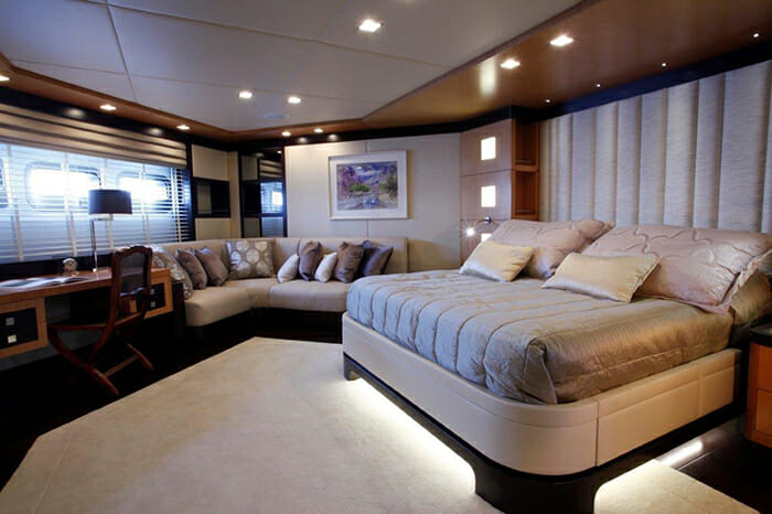 Serenity II master cabin on lower deck
