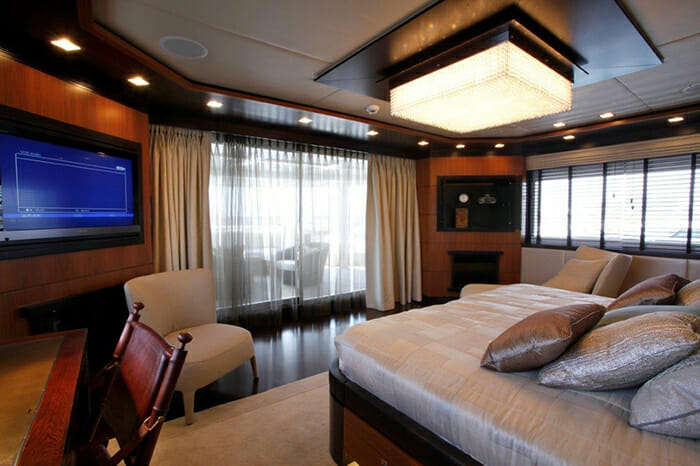 Serenity II master cabin on upper deck