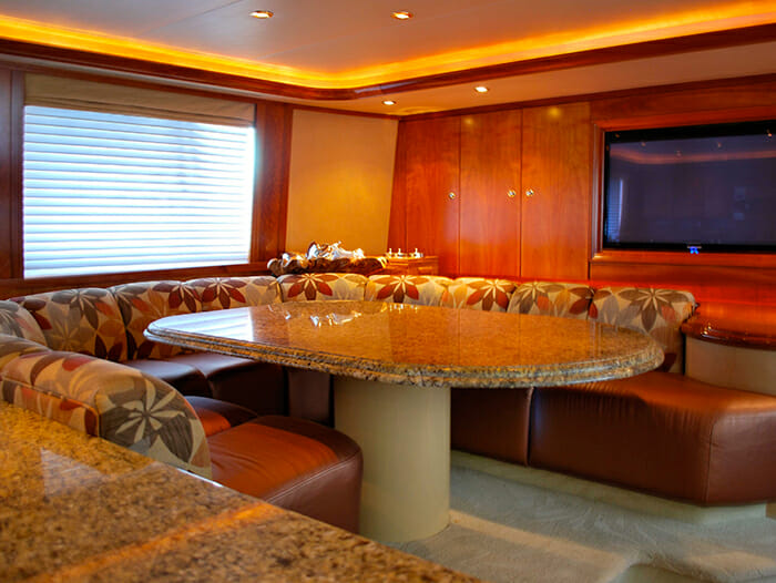 Silver Moon galley table
