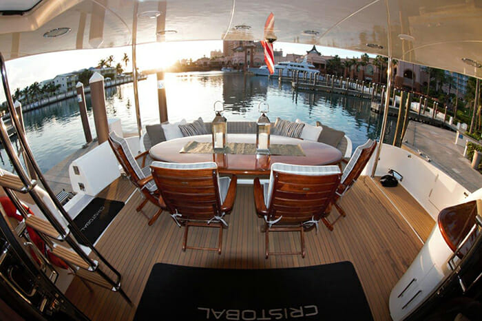 Sweetwater aft deck dining