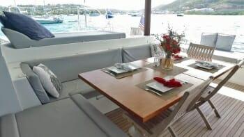 Tell Star deck dining