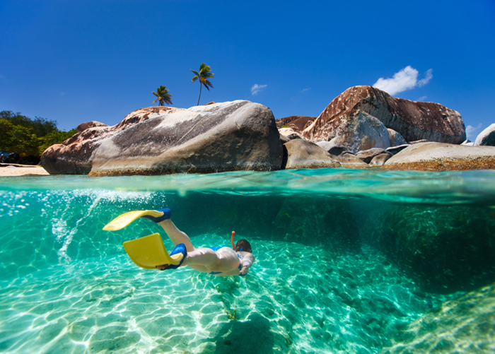 BVI yacht charter - The Baths on Virgin Gorda