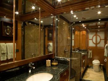 Tigers Eye master bathroom