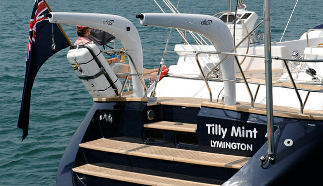 Tilly Mint transom