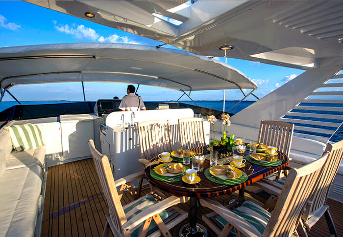Trilogy flybridge dining