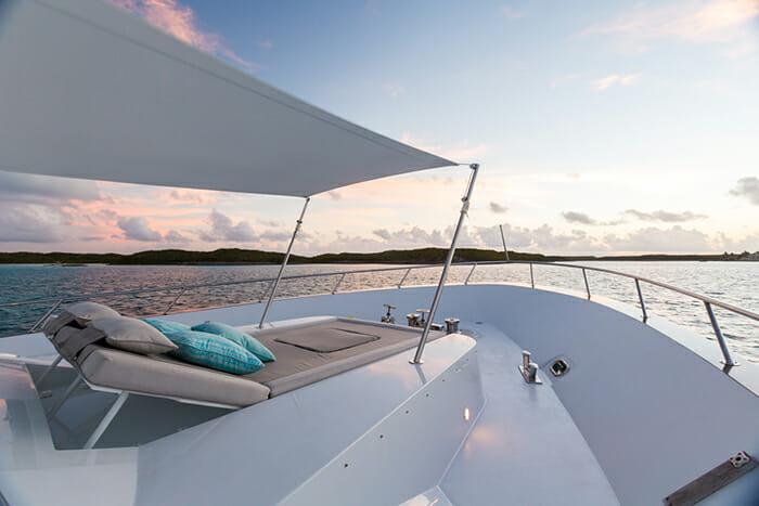 Unbridled forward deck