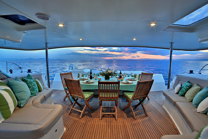World's End deck dining