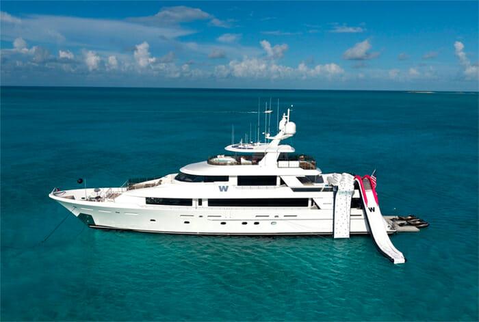 yacht W water slide